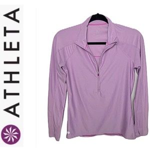 Athleta pullover half zip workout top. Sz S